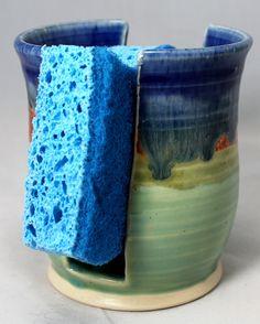Handmade Pottery Ceramic Sponge Holder by LoJoCeramics on Etsy, $15.00
