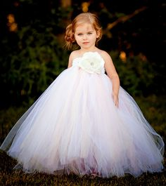 Flower Girl Tutu Dress in Vintage Daydream by TheLittlePeaBoutique, $99.00