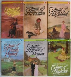 My favourite books of all-time, the Anne of Green Gables books by Lucy Maud Montgomery. In this photo, the last 2 are missing (Rainbow Valley & Rilla of Ingleside).