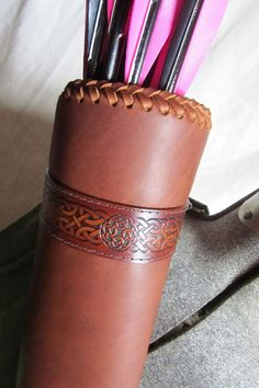Leather Quiver Archery Quiver Back Quiver by EarthlyLeatherDesign, 150.00