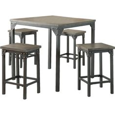 Found it at Wayfair 6 Piece Counter Height Dining Set