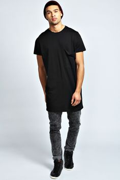 OVERSIZED POCKET LONG LINE T SHIRT