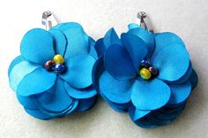 Flower Hair Clip  Silver Hair Accessories Handmade by FamtasticCrafts on Etsy