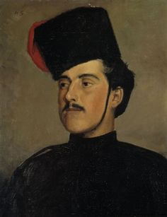 Helene Schjerfbeck - The Beautiful Cossack, Painting: oil on canvas, glued to wood