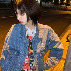 Ulzzang Girl, Denim, Jackets, Fashion, Down Jackets, Moda, Fashion Styles, Jacket, Fasion