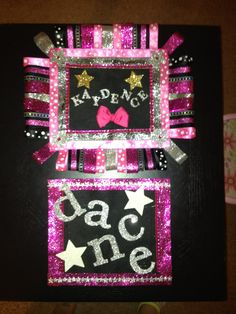 """""""Dream Duffel"""" personalized patches made by me for my daughters dance bag<3"""