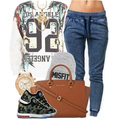 Los Angeles MisFit, created by oh-aurora on Polyvore