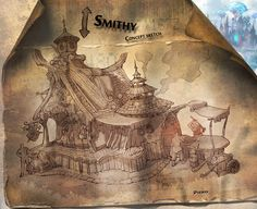 ArtStation - Concept sketch - Smithy, Il su Ko