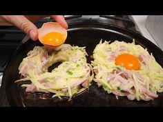 Ich habe noch nie so leckere Eier gegessen! Einfaches und einfaches Frühstück! - YouTube Egg Recipes For Breakfast, Breakfast Items, Breakfast Dishes, Brunch Recipes, Easy Cooking, Cooking Recipes, Quick Recipes, Food And Drink, Favorite Recipes