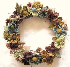crocheted wreath