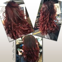 Red color melt with brighter red ends. Love the subtle variation of color.