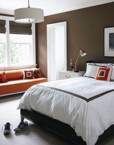 Bedroom Ideas On Pinterest Orange Color Schemes Burnt Orange And Striped C