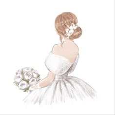 Wedding Drawing, Wedding Dress Sketches, Wedding Dresses, Be My Bridesmaid Cards, Will You Be My Bridesmaid, Bridesmaids, Arab Wedding, Wedding Couples, Bride Clipart