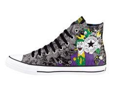 Converse All Star Hi Hero Villains Athletic Shoe - Heroes & Villains Joker Converse, Cool Converse, Converse All Star, Crocs Shoes, Men's Shoes, Shoe Boots, Shoe Bag, Marvel Shoes, Teen Presents