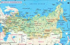 Find the updated Russia map, a country situated in northern Eurasia. The map of Russia shows that it has the largest land mass in the world. Largest Countries, Countries Of The World, Russia Day, Asia Map, Russia Ukraine, Country Maps, Russian Federation, Vladimir Putin, Study Materials