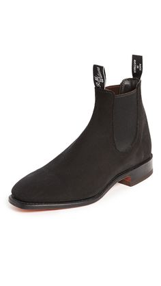 R.M. WILLIAMS SUEDE RM CHELSEA BOOTS. #r.m.williams #shoes #