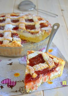 Jam and ricotta tart, easy, delicious and irresistible – backen Sweets Recipes, Cookie Recipes, Real Food Recipes, Ricotta Torte, Crostata Recipe, Almond Pastry, Basic Cake, Torte Cake, Gateaux Cake