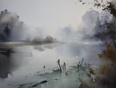 Ilya Ibryaev - In the morning silence - watercolor 54х42 cm http://www.SeedingAbundance.com http://www.marjanb.myShaklee.com