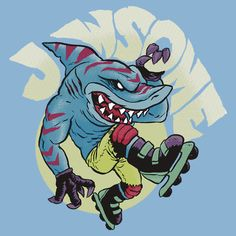 """Streex"". Likes extreme sports and plays drums professionally. Perfect for shark tattoo"