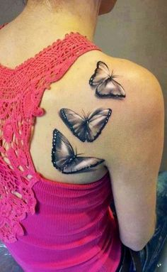 black and gray butterfly tattoo - Google Search