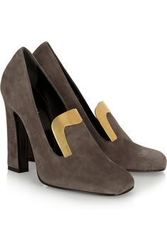 Gucci|Embellished suede pumps|NET-A-PORTER.COM