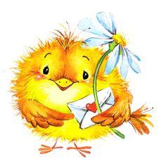 "Photo from album ""Иллюстрации"" on Yandex. Illustration Inspiration, Cute Animal Illustration, Watercolor Illustration, Animal Illustrations, Cartoon Drawings, Easy Drawings, Angel Wings Wall Art, Good Morning Vietnam, Bird Coloring Pages"