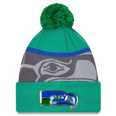 99286db1d1a Men s Seattle Seahawks New Era Green Graphite Gold Collection Classic Team  Color Knit Hat