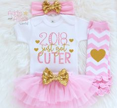 I️ want purple and gold one...New year's outfit for your little one. #2018justgotcuter #addieandalliesworld Girls First New Year Outfit,