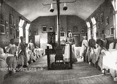 Salford workhouse boys' dormitory, 1890s