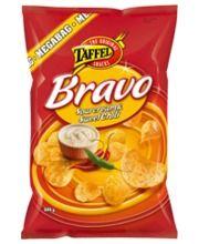 Taffel Bravo 325 g sourcream & sweet chili perunalastut, 2,65 e