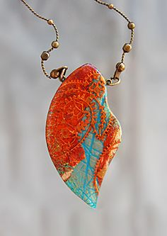 Polymer clay jewelery by Lesya Binkin - Gallery <<< that's some gorgeous layering