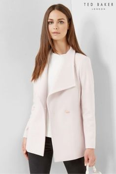 61821fd5d Buy Ted Baker Nude Pink Short Wrap Car Popper Coat from the Next UK online  shop