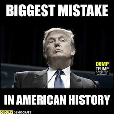 """Bigly"" mistake... except for that Native American genocide and slavery... but he's definitely in third place..."