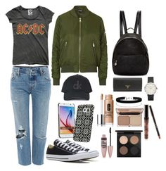 """STYLE SUNDAY// CHILLED DAY"" by fionacummings on Polyvore featuring Levi's, Converse, Topshop, STELLA McCARTNEY, Miss Selfridge, MAC Cosmetics, Kylie Cosmetics, Clinique, Charlotte Tilbury and Maybelline"