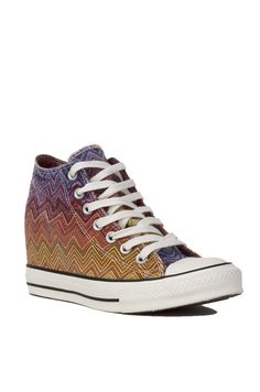 11bafa9654a6 Periwinkle Missoni for Converse Chuck Taylor All Star Lux Mid Top Sneaker  Wedges