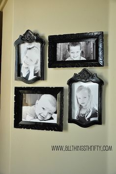 photo frames from chair backs...