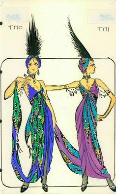 Female Dancer 'Tango' Costume designed by Pete Menefee for Titanic scene in Jubilee! Dance Fashion, Fashion Art, Titanic Costume, Costume Design Sketch, Burlesque Show, Female Dancers, Fashion Illustration Sketches, Beautiful Costumes, Belly Dance Costumes