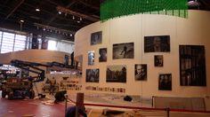 Le Salon du livre en plein montage, H-4 avant l'inauguration !