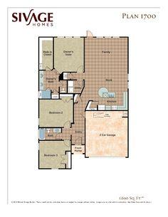 Sivage Homes 1700 Floor Plan