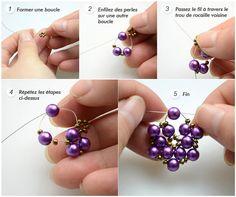 Tutoriel De Bijoux En Perles – Boucles d'oreilles en perles faites main pour un cadeau Saint Valentin