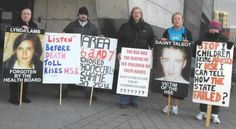 Members Of The 'Breaking the Silence' Campaign Group Picketing HSE Offices In Dublin's Ballymun Mental Health Services, Mental Health Problems, Public Service, Dublin, Offices, Irish, Campaign, Author, Group