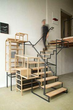 Homeli Design Blog — Industrial Landscape 01 Staircase Furniture by...