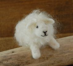 Needle Felted Sheep ...  This sweet little sheep is full o love! So silky soft to the touch. It is made with the needle felting technique using merino sheep wool and mohair ...