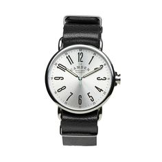 Camden Watch Company Unisex Watch in silver. Inspired by classic vintage  watches and with an interchangeable leather or nylon strap. 0abc395d4bf