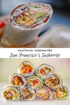 San Francisco's Sushirrito - Misadventures with Andi San Francisco Food, San Francisco Restaurants, Burrito Shop, New Recipes, Favorite Recipes, Drinking Around The World, Vegetarian Options, Food Trends, Best Places To Eat