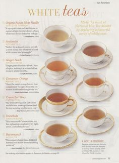 White Tea Is A SUPER Anti-Oxidant with great health benefits! You should funnel many cups into your mouth. I like The Republic of Tea, Octavia Tea Company, and Art of Tea blends. Plat Vegan, Party Set, Cuppa Tea, Tea Art, Tea Blends, Tea Recipes, Iced Tea, High Tea, Drinking Tea