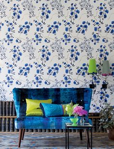 Jacaranda wallpaper from Designers Guild