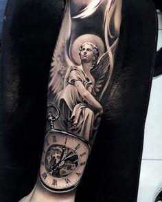 Arm Tattoo, Natur Tattoo Arm, Angel Sleeve Tattoo, Vintage Tattoo Sleeve, Tiger Tattoo Sleeve, Nature Tattoo Sleeve, Full Sleeve Tattoos, Tattoo Sleeve Designs, Tattoo Designs Men