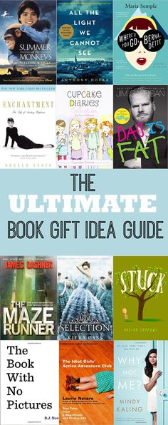 The Ultimate Book Gift Idea Guide on www.girllovesglam.com TONS of great book suggestions for Toddlers, Kids, Teens, and Adults that would make great gifts!