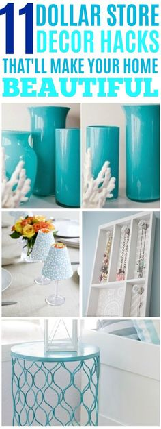 Clever ways to decorate your home from the dollar store. #dollarstore #dollarstorehacks #dollarstorediy #dollarstore #dollarstoremakeover #dollarstorecrafts